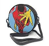 BAODANLA Bolso redondo mujer Round Crossbody Bag Evil Demon Handbag Purse Single Shoulder Bag Sling Bag