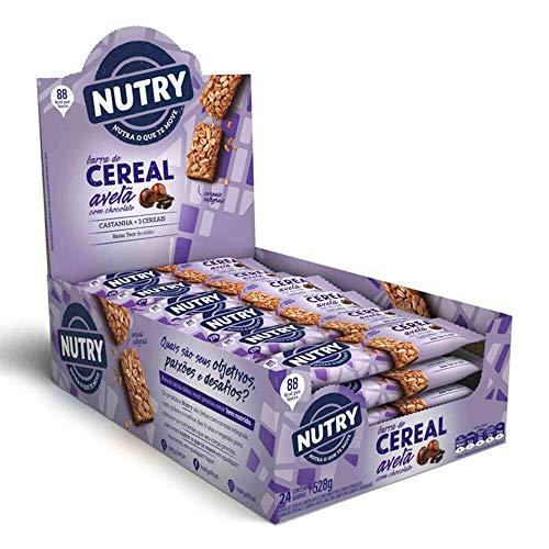 Barra de Cereal Avelã com Chocolate Nutry com 24 Unidades