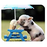 Mousepad Unique Design Mouse Pad Cute Pig Eat Ice cream Gaming Mousepad
