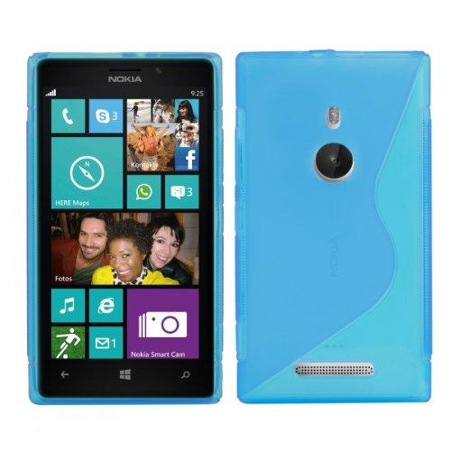 CUSTODIA IN TPU per Nokia Lumia 925 Fantasia linea S Blu - Stilosa custodia di design in morbido TPU di alta qualit� kwmobile