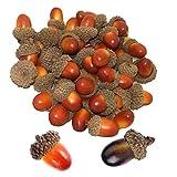 HPiano 20 Piezas Artificial Acorn Falso Falso de Nuez de Frutas decoración de otoño de Frutas Artificiales para la decoración del hogar del Partido,Fiesta Boda Decoración del Local DIY Artesanía