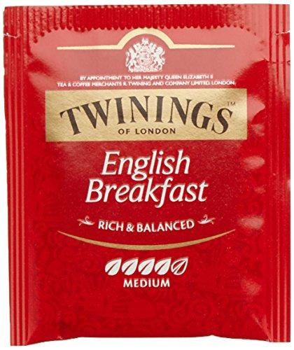 Twinings English Breakfast Tee 200g, Schwarztee ∙ Voller, runder und kräftiger Schwarztee aus den besten Teegärten von Sri Lanka und Indien. Black Tea, 100 Teebeutel, 1er Pack (1 x 200 g)