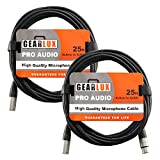 Gearlux XLR Microphone Cable Male to Female 25 Ft...