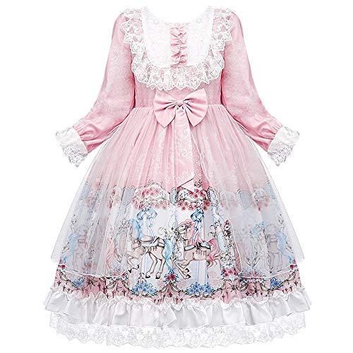 ZYUPHY Disfraz de princesa para nias con gorro para nios, boda, dama de honor, cumpleaos, cosplay, fiesta, fiesta de graduacin, vestido de baile para nios de 4 a 14 aos