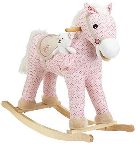 Milly Mally Pony - Mecedora Caballo Balancín de juguete con efectos de sonido oso de peluche, color rosado