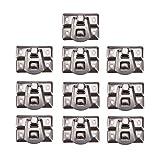 WCNMB Hebilla 10 unids/Set 31 * 22 mm Caja de Plata Perspulaciones de Bloqueo de Hierro Cercha de Bloqueo para joyería Caja de Pecho Maleta Maleta Hebilla Clip Cierre de Hardware Fácil de Instalar