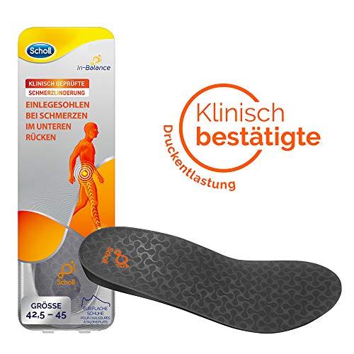 Scholl In-Balance Einlegesohlen für Schuhe in Größe L – Sohlen bei Schmerzen im unteren Rücken – 1 Paar nicht klebende Einlagen