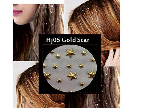 Cheveux Bijoux cheveux Charme autocollants d'or astérisque 2 Sheet Pack