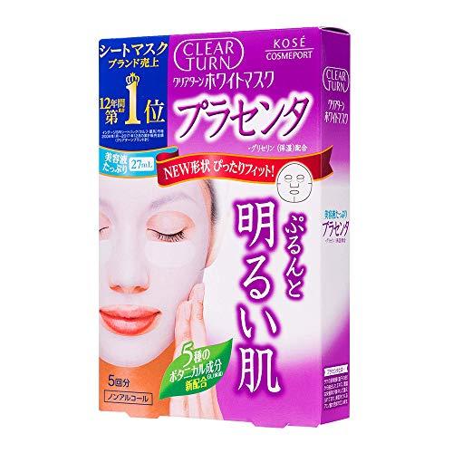 Kose Clear Turn Essence Facial White Mask 5pcs - Placenta