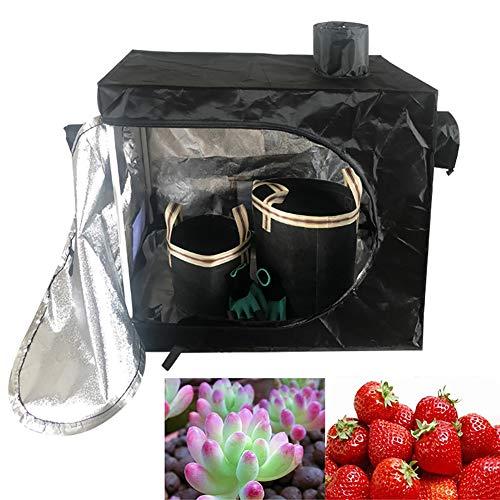 ZDYLM-Y Sala de Cultivo Interior, Carpas de Cultivo de Plantas 600D Mylar Hydroponic Indoor Grow Tent, 80x45x80CM