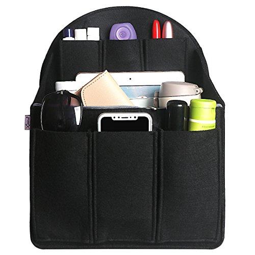 Shidan Handtaschen-Organizer, Einsteck-Stofftasche-Organizer mit Filz, Handtasche-Form, Mehrpocket-Einstecktasche Rucksack Geldbörse und Reiserucksack Tasche im Taschenorganisator