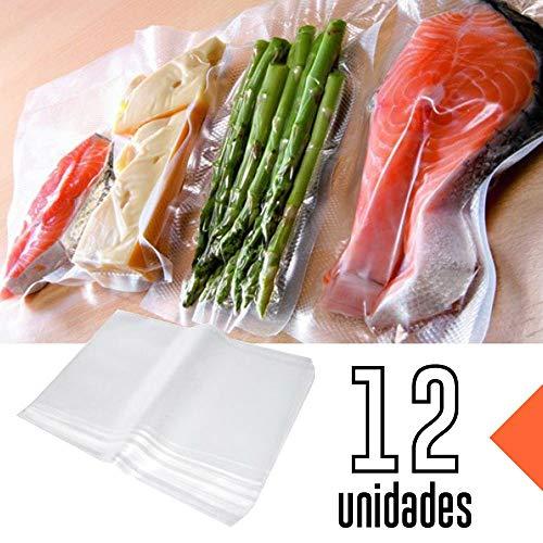 Saco Seladora Embalagem a Vacuo Saquinho Selar 12 Un. Grande