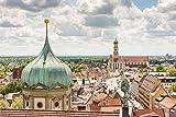 Augsburg City Skyline Art XXL Wandbild Kunstdruck Foto