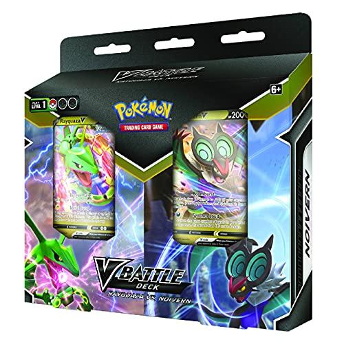 Pokémon USA, Inc. | Pokemon TCG: Rayquaza V vs Noivern V Battle Deck Bundle | Juego de cartas | Edad 6+ | 2 jugadores | Tiempo de juego más de 10 minutos