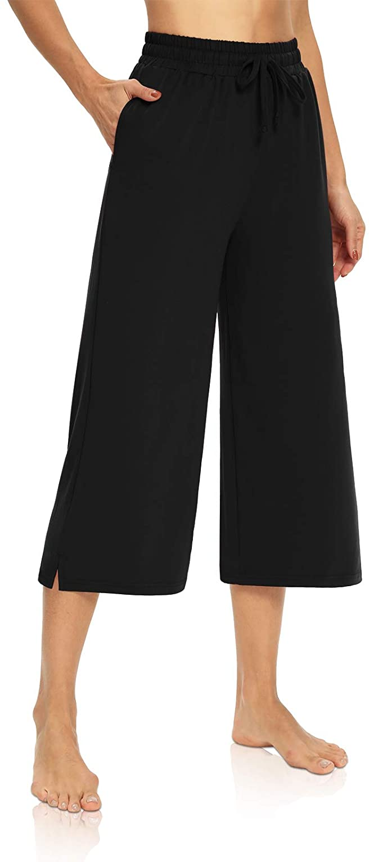 DIBAOLONG Womens Capri Pants Limited time for free shipping Loose Yoga Leg Ranking TOP2 Wide Drawstrin