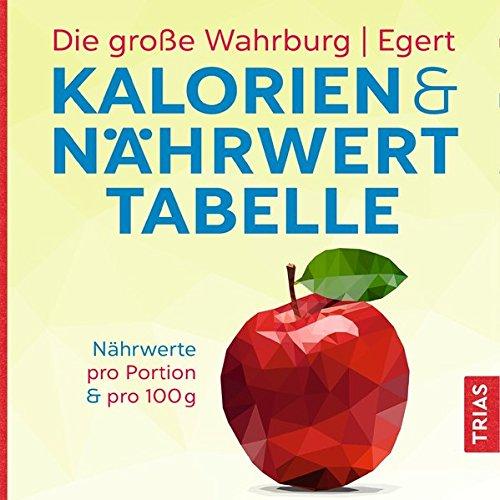 Die große Wahrburg/Egert Kalorien-&-Nährwerttabelle: Nährwerte pro Portion & pro 100 g