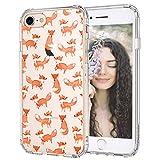 MOSNOVO iPhone SE 2020, iPhone 7/8 Hülle, Fuchs Muster TPU Bumper mit Hart Plastik Hülle Durchsichtig Schutzhülle Transparent für iPhone 7 / iPhone 8 / iPhone SE 2020 (Fox)