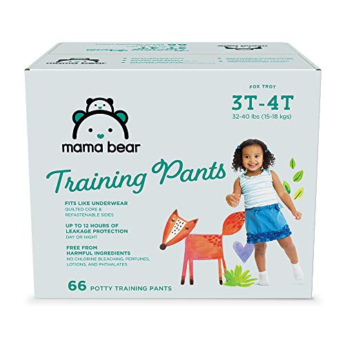 Amazon Brand - Mama Bear Training Pants For Girls 3T-4T, 66 Count