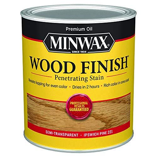 Minwax 70004444 Wood Finish Penetrating Stain, quart, Ipswich Pine