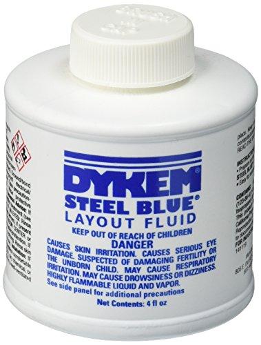 Dykem 80300 Steel Blue Layout Fluid, Brush-in-Cap (4oz)
