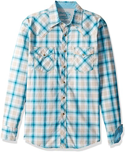 Wrangler Herren 20x Competition Two Pocket Long Sleeve Snap Shirt - Mehrfarbig - Groß