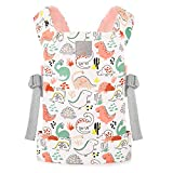 GAGAKU Baby Doll Carrier Front and Back Stuffed Animal Carriers for Little Girls - Pink (Dinosaur)