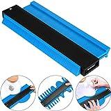 Contour Gauge Duplicator, CETECK 250MM Medidor Contornos Ideal para Azulejos Edge Shaping Madera Medida & Azulejos laminados (250mm, Azul)