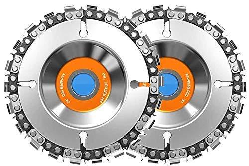 Hommo - Disco de motosierra (2 unidades, 22 dientes, acero de 22 dientes, para cortar y moldear, se adapta a amoladoras angulares de 4 o 4-1/2