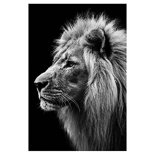 LoveMyHome 5D-Diamant-Stickerei-Set zum Selbermachen, Gemälde mit Strasssteinen, Kreuzstich – mit quadratischen Diamanten und Werkzeug – Tier – Löwe, h, 45 x 60 cm