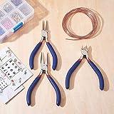 Set di 3 pinze per gioielli fatti a mano, per creare perline, mini pinze e strumenti per la combinazione di aghi e pinze a becchi rotondi