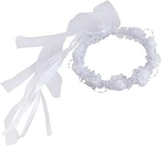 YoumeHome Wedding Flower Girl Headpiece Floral Crown to Match Flower Girl Dress
