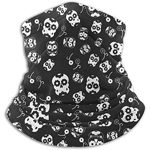 YTGHF Bufanda Neck Warmer Gaiter Halloween Skull Pattern Soft Microfiber Headwear Face Scarf Mask