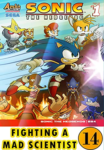 Hedgehog Fighting Mad Scientist: New Collection 14 Funny Graphic Novels Adventure Comic For Kids Children Cartoon Of So-nic (English Edition)