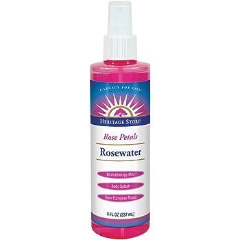 Heritage Store Rose Petals Rosewater | Alcohol Free, 100% Pure Vegan | Benefits Sensitive Skin, Hair & More | Facial Toner & Moisturizer | 8 oz