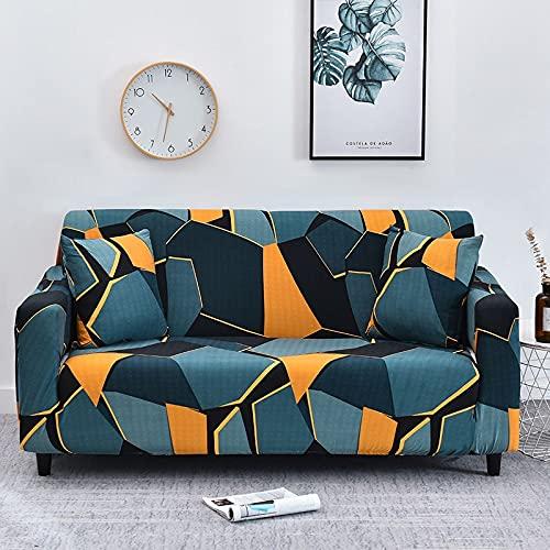 WXQY Fundas de Rayas elásticas Funda de sofá elástica para Mascotas Funda de sofá de protección para Mascotas Esquina en Forma de L Funda de sofá con Todo Incluido A33 1 Plaza