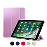 RUBAN Case Compatible with iPad (9.7-Inch, 2018/2017 Model) - Ultra Slim Lightweight Smart Shell Standing Cover with Auto Wake/Sleep Feature, Purple
