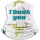 Bklzzjc Thank You Signature Thanksgiving Nackenwärmer - Nackenschutzrohr, Ohrenwärmer-Stirnband und Gesichtsmaske.