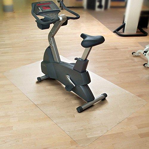 casa pura Bodenmatte/Unterlegmatte für Heimtrainer, Ergometer, Crosstrainer und andere Fitnessgeräte - transparent - 116x200 cm