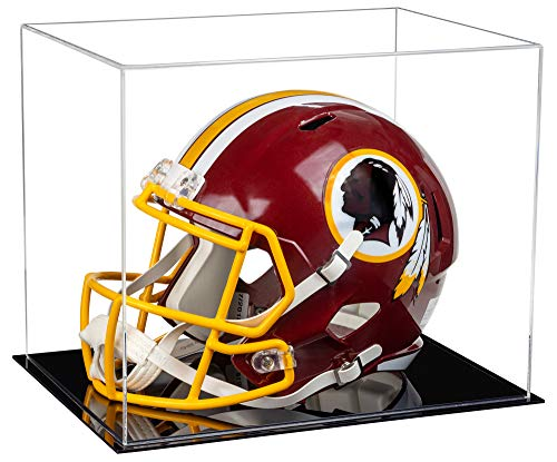 Better Display Cases Clear Acrylic Football Helmet Display Case with Black Base (V44)