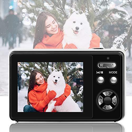 Cámara digital de 24 megapíxeles, cámara digital de 2,4 pulgadas con zoom digital macro para adultos, niños, principiantes
