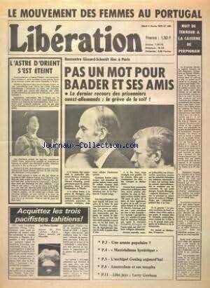 FIGARO du 05/11/1975 - LA MARCHE VERTE EN SUSPENS - SAHARA OCCIDENTAL - DECISION ATTENDUE DU ROI HASSAN II APRES LES REMANIEMENTS DANS SON ADMINISTRATION - FORD - JE VOULAIS MA PROPRE EQUIPE PAR RENARD EXPOSITION AQUITAINE - RENCONTRE GISCARD- CHABAN MDECINE ET DEVENIR DE L'HOMME CORSE - NAPOLEON A FLOT CARLO BRONNE COURONNE FOOT - COUPES D'EUROPE NON CONFORME PAR FROSSARD LES GRANDES MANOEUVRES DE LA MAISON-BLANCHE - UN PRESIDENT EN QUETE D'ELECTEURS PAR ARON