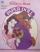 Disney BEAUTY & THE BEAST PAPER DOLL Book UNCUT w BELLE, PRINCE & BEAST Dolls (1991 Golden)