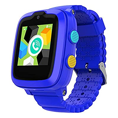 2020 Model - 4G Kids Smartwatch with GPS Tracker | Touch Screen | Remote Monitoring | SOS | Video Call | Safe Zone Gift for Boys/Girls (Blue)