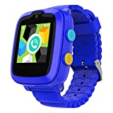 2020 Model - 4G Kids Smartwatch with GPS Tracker | Touch Screen | Remote Monitoring | SOS | Video Call | Safe Zone Gift for Boys\/Girls (Blue)