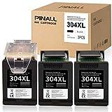 PINALL Confezione da 3 cartucce per stampante compatibile per HP 304XL 304 XL per HP DeskJet 2622 2633 2634 3720 3730 3733 3735 3750 3760 3762 3764 Envy 5010 5020 5030 5032 (nero)