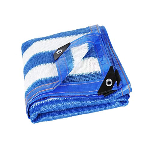 Velas de Sombra Rayas Azules y Blancas Rectángulo Vela Parasol, Persianas para Patio/Jardín Paño para Cubierta de Piscina Al Aire Libre - 80% Toldo de Bloque UV con Ojales (Size : 4×5m)