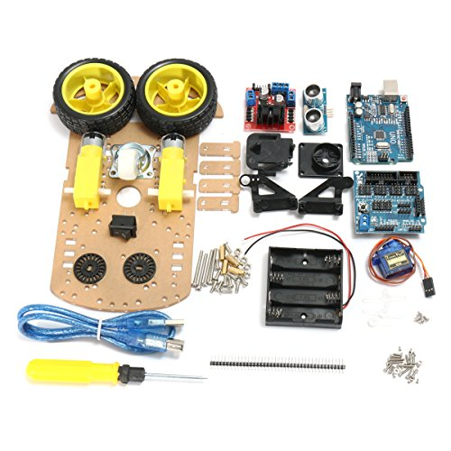 Bluelover Diy L298N 2 Wd Ultrasone Smart Tracking Moteur Robot Auto Kit voor Arduino