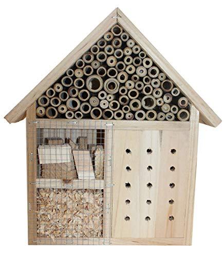 Stolz Insektenhotel Nistkasten Brutkasten für Schmetterlinge Bienen Käfer (Natur (groß))
