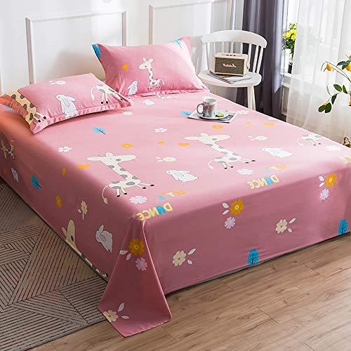 BIANXU Bed Sheet 100% Katoen Matrasbeschermer Cover Flat Sheet 1 Stks Zachte Bedkleding Voor Eénpersoons/Tweepersoonsbed