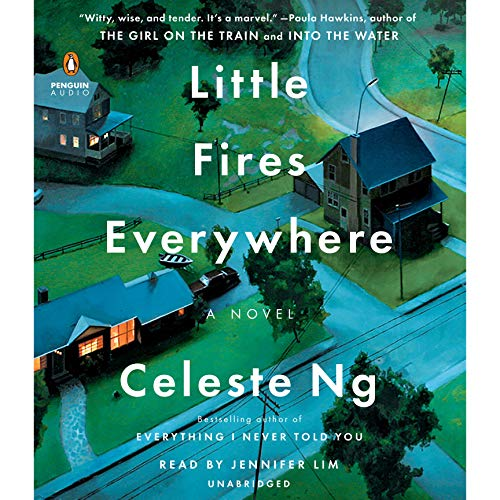 Little Fires Everywhere                   By:                                                                                                                                 Celeste Ng                               Narrated by:                                                                                                                                 Jennifer Lim                      Length: 11 hrs and 27 mins     30,410 ratings     Overall 4.4